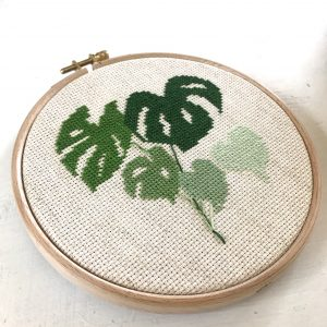 Monstera Leaves by Itchy Stitchy