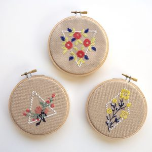 Geometric Flowers by Junebug and Darlin